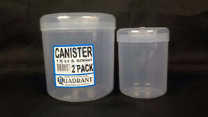 12x Set of 2 Canister Food Storer Food Storage Container Kitchen Pantry #3067