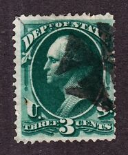 US O59 3c State Department Used w/ Iron Cross Cancel