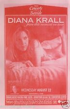"""DIANA KRALL """"FROM THIS MOMENT ON TOUR"""" 2006 SAN DIEGO CONCERT TOUR POSTER"""