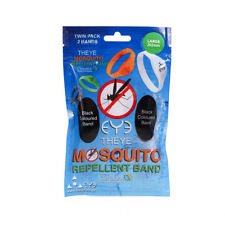 Eye Mosquito Insect Repellent Ankle & Wrist Black Bands Large 202mm Twin Pack