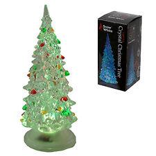 Christmas Battery LED 13cm Colour Changing Acrylic Tree