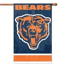 """New listing Chicago Bears Flag House Banner 28"""" x 44"""" Party Animal Nfl"""