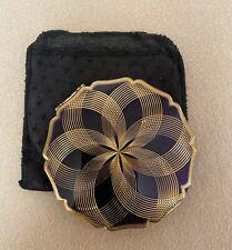 Vintage Stratton England Compact Purple & Gold Geometric Pattern Stunning