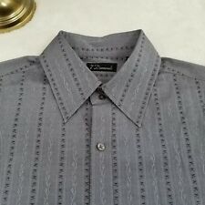 7 Diamonds Mens Luxury Western Shirt Casual Collar Gray XL GIFT!