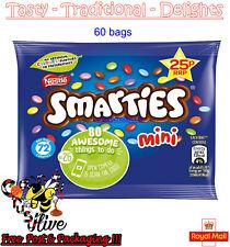 Nestle Mini Smarties Chocolate 60 x 15g Bags Kids Lunch Box B/B 01-2020