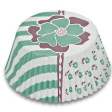 MINI Muffinförmchen Cupcake Papierförmchen Muffin Blume türkis Städter
