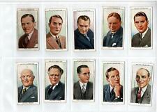 1930's WILLS CIGARETTE CARDS RADIO CELEBRITIES - FULL SET of 50 VERY GOOD