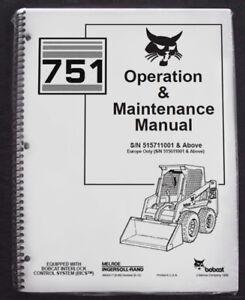 Bobcat 751 Skid Steer Operation & Maintenance Manual Operator/Owner's 2 #6900417