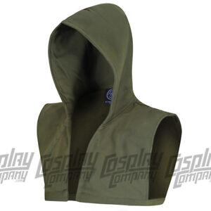 Green Arrow hood Oliver Queen cosplay comic con costume fancy dress mask hoodie