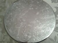 6 Stunning English Silver Plate Table Mats Quality Vintage