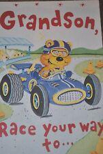 Bella Greetings Card #11143 VGSOJ-Grandson Race Ur way Awesome Valentine's Day
