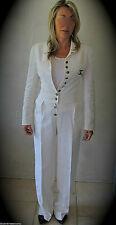 luxueux tailleur pantalon/veste lin soie blanc CHANEL taille 36 fr valeur 3200€
