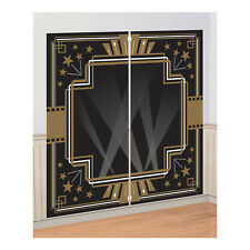 Hollywood Party Glitz & Glam Black & Gold Scene Setter Photo Prop Wall Backdrop