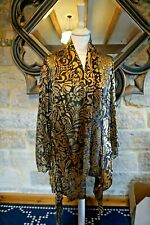 dreamkeeper collection L/XL  fall front burn out silk divore  top new with tags