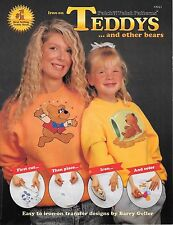 Iron on teddy's and other bears transfer design book patch n paint pattern 13021
