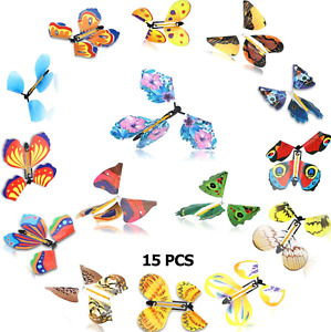 15 Pieces Magic Flying Butterfly Wind up Butterfly in The Book Classic Romantic