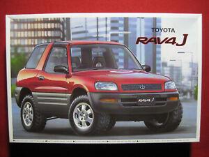 Toyota RAV4 J 4x4 1:24 Aoshima Plastic Model Kit Japan Rare 4WD Urban SUV