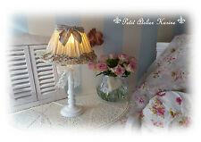 Clayre Eef Tischlampe Rüschen in Shabby Chic, französischem Landhausstil