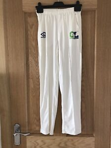 Canterbury Mens Classic Sports Training Cricket Whites Trousers Bottoms Cream