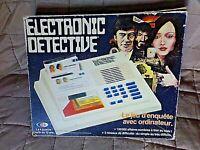 ELECTRONIC DETECTIVE-jeu d'enquête avec ordinateur-complet-état de marche-IDEAL