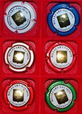 6 Plaque de muselet de champagne Billecart Salmon blason