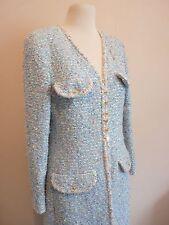 GENUINE CHANEL BABY BLUE LESAGE TWEED COAT SIZE 42FR SPRING/SUMMER GORGEOUS