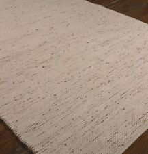Large Reversible Hand Loomed Hemp Cotton Chenille Area Rug 9 x 12 Natural Beige