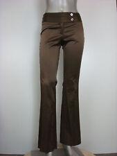 EUC Wearever Women's Satiny Wide Waistband Dress Pants Bronze 0
