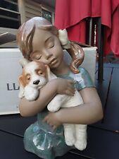 Lladro Gabriela Girl With Puppy Gres Finish Mint W/Box #2355