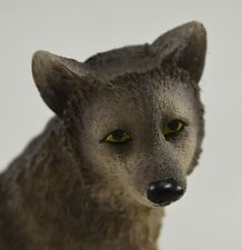 More details for beautiful wolf cub ornament home/gift. hand painted, wolves, new