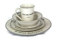 Feed on the Word Scripture on Tableware 5 Piece Dinnerware Set Porcelain