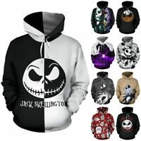 The Nightmare Before Christmas Sally Jack Skellington Hoodie Sweatshirt Cosplay