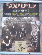 "SOULFLY ""3"" 2002 promo poster 24 x 16  original"