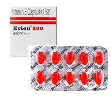 Vitamin E Capsules For Face, Hair, Nail, Acne, Skin, Pimples Evion 10 Caps 200mg