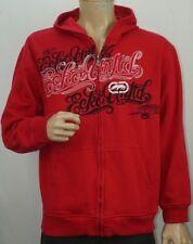 Red Ecko Unlimited Full Zip Hoodie Sweatshirt Hooded Jacket Size Large