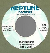 THE O'JAYS-NEPTUNE- BRANDED BAD/YOU'RE THE BEST THING-45RPM-SOUL-RARE NM COND!!