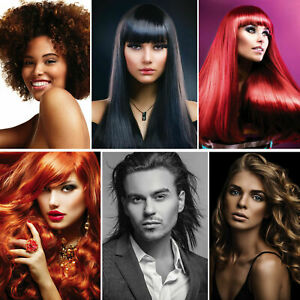 6Style Choose HAIR SALON, HAIRDRESSER, BARBER PICTURE Art Silk Poster 24X36inch