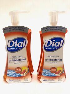 2 Dial Complete Foaming Hand Wash Citrus Sunburst Scent 7.5 OZ Each