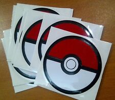 Pokemon Go Pokeball Sticker Vinyl Decal  Car  Laptop Ball 60mm x60mm Stickers