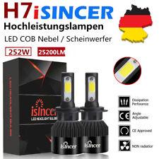 2x H7 252W 25200LM LED Scheinwerfer Kit High Abblendlicht Birnen COB 6500K Weiß