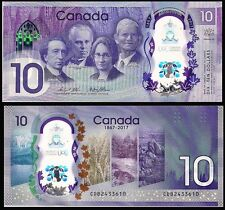 """Canada 2017 """"The 150th anniversary of the founding of China"""" Polymer Banknotes"""