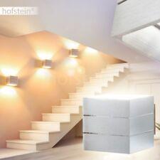 Luxus Wohn Schlaf Raum Wand Lampe Up Down Leuchten Flur Dielen silberfarben Glas
