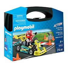Playmobil City Action Go-Kart Racer Carry Case Building Set 9322 NEW Educational
