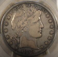 1898-O Barber Half Dollar 50c PCGS Certified F15 PQ Original Coin