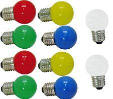 LED Leuchtmittel E27, 1 W, 10er Set bunt und weiß je 2 Stück