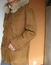 NEW Parka Spanish Merino Shearling Coat Detachable Hood for Men