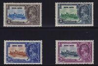 Hong Kong Sc #147-50 (1935) King George V Silver Jubilee Mint VF H
