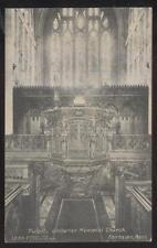 POSTCARD FAIRHAVEN MA UNITARIAN MEMORIAL CHURCH ORNATE CHURCH PULPIT 1906