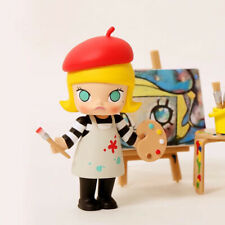 POP MART KENNYSWORK Molly Career Mini Figure Designer Toy Figurine Painter Red