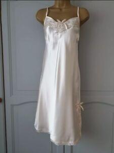 Ladies Vintage Peach Full Slip Dress Satin/Polyester - 12